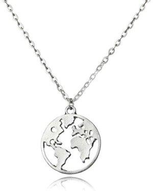 Map Design Pendant Necklace