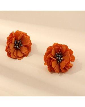 Flower Design Stud Earrings