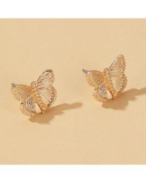 Butterfly Decor Stud Earrings