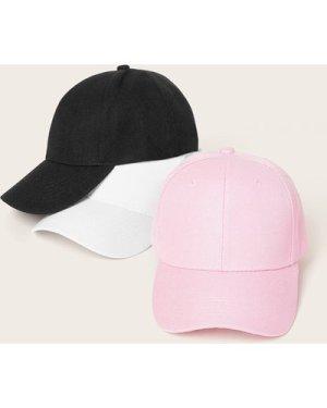 3pcs Solid Simple Baseball Caps