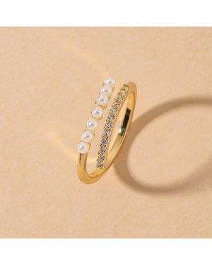 Rhinestone Cuff Ring