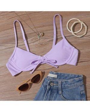 Tie Front Underwire Bikini Top