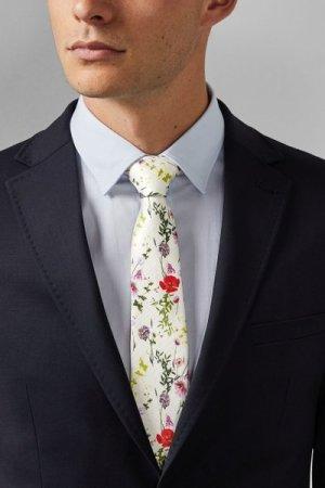 Floral Printed Silk Tie