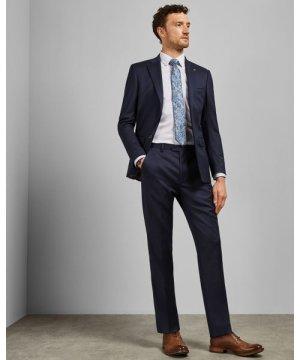 Debonair Plain Wool Pants
