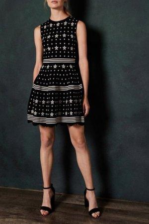 Star Jacquard Knit Dress