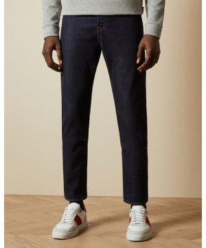 Straight Dark Wash Cotton Jeans