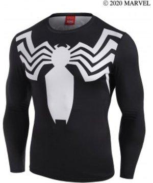 Marvel Spider-Man Venom Letter Print Long Sleeve T-shirt