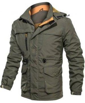 Hooded Hook and Loop Toggle Drawstring Fleece Jacket