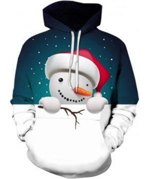 Christmas Snowman Printed Hoodie