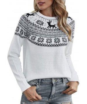 Christmas Elk Graphic Raglan Sleeve Sweater