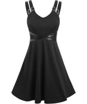 High Waist Criss Cross Strappy Dress