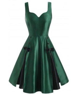 Vintage Bowknot Pin Up Dress