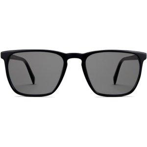 Sutton Wide sunglasses in Jet Black (Grey Non-Rx)