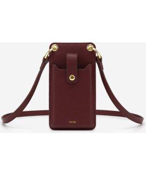 Quinn Phone Bag - Burgundy Grained Vegan Leather