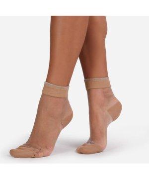 Ankle Socks In Nude Mesh