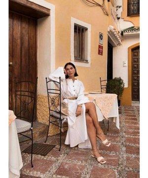 JESSE SHIRT DRESS. White Cotton by Eudon Choi