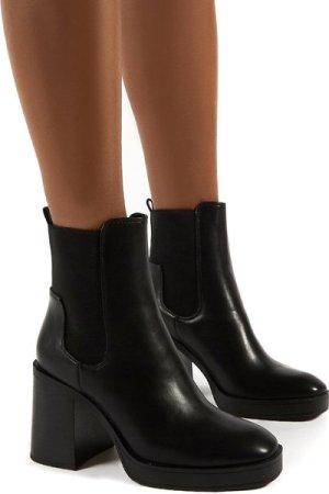 Klara Black Black Heel Ankle Boot - US 10