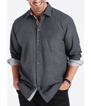 Tonal Check Easy Care Sport Shirt