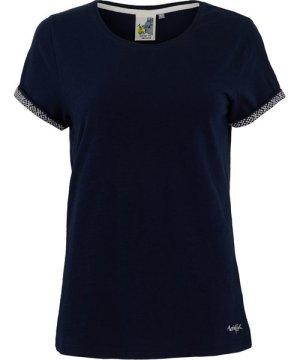 Weird Fish Trinity Cotton Short Sleeve T-Shirt Dark Navy Size 22