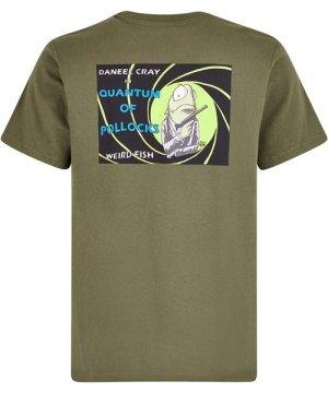 Weird Fish Quantum Pollocks Artist T-Shirt Dark Olive Size 4XL
