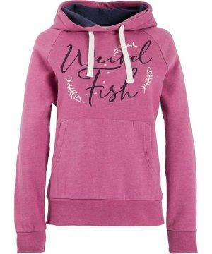 Weird Fish Anya Branded Popover Hooded Sweatshirt Magenta Size 20