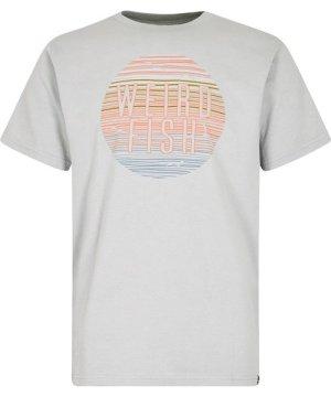 Weird Fish Sunset Graphic T-Shirt Pistachio Size 5XL