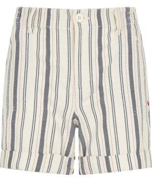 Weird Fish Yasmin Striped Shorts Light Cream Size 20