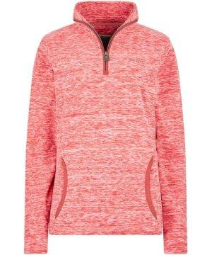 Weird Fish Nancy 1/4 Zip Melange Fleece Sweatshirt Rouge Red Size 10