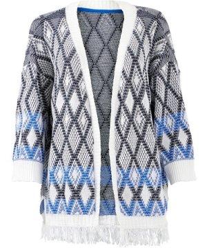 Weird Fish Mayella Knitted Summer Cardigan Chalk Size 16