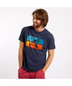 Weird Fish Fish Surf Graphic T-Shirt Navy Size XL