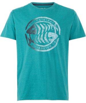 Weird Fish Summer Surf Graphic T-Shirt Deep Teal Size M