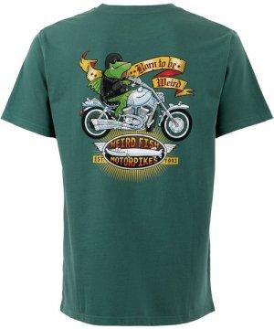 Weird Fish Motorpikes Artist T-Shirt Dark Green Size XL