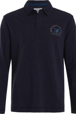 Weird Fish Sidwell Rugby Shirt Navy Size 2XL