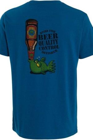 Weird Fish Beer Offisher Artist T-Shirt Storm Blue Size XL