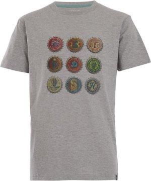 Weird Fish Bottlecaps T-Shirt Grey Marl Size 4XL