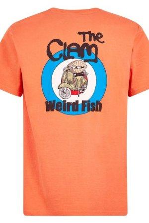 Weird Fish The Clam Artist T-Shirt Orangeade Size L