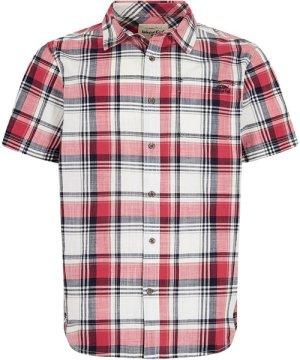 Weird Fish Modbury Short Sleeve Checkered Shirt Berry Size L