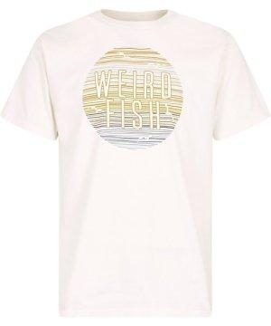 Weird Fish Sunset Graphic T-Shirt Marshmallow Size 4XL