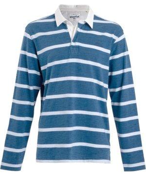 Weird Fish Marshaw Striped Rugby Shirt Dark Navy Size XL