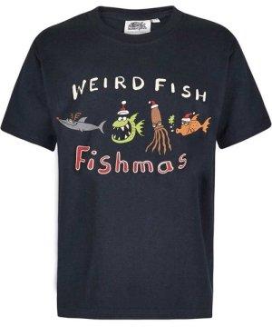 Weird Fish Fishmas Boy's Artist T-Shirt Carbon Size 7-8