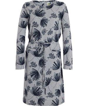Weird Fish Sydney Printed Jersey Dress Grey Marl Size 10