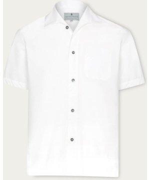 White Marina Zephyr Short Sleeve Shirt