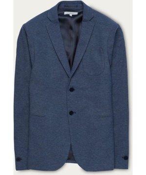 Navy Luxurious Jersey Pique Blazer