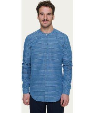 Harmony Shirt in Blue Horizontal Stripe