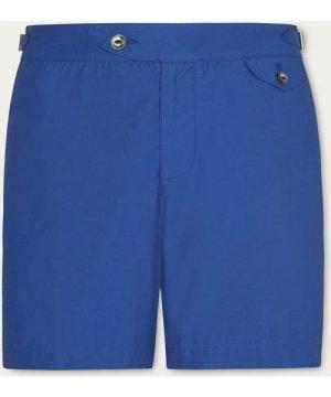 Blue Twill Clipper Swim Shorts