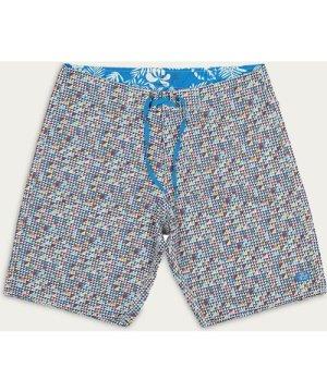 Blue   White Amado Boardshorts