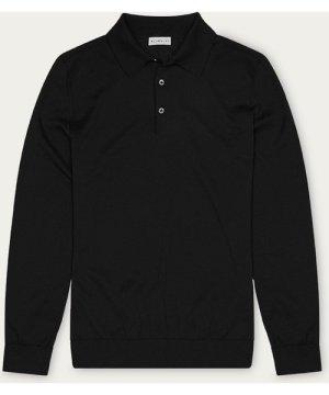 Black Lewis Cotton Polo
