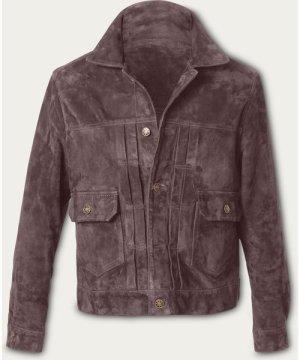 Taupe Presley Trucker Suede Jacket MTO