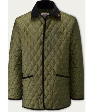 Olive Black Rag Quilted Jacket
