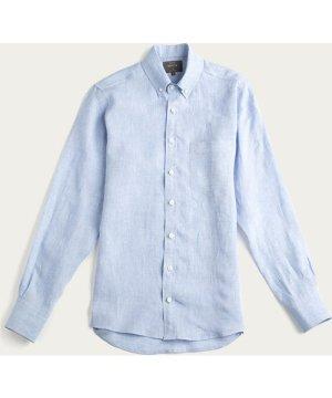 Sky Blue Linen William Button Down Shirt